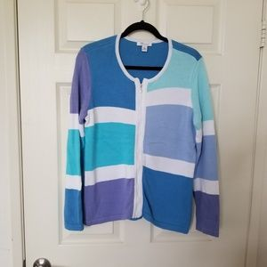 The TOG Shop Size Zip Cardigan Sweater Size S